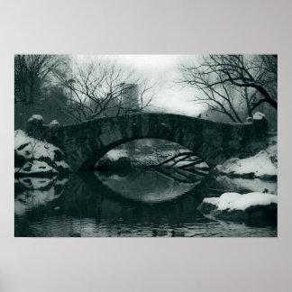 The Bridge in Central Park Poster