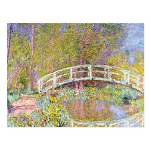The Bridge in Monet's Garden by Claude Monet Postcard