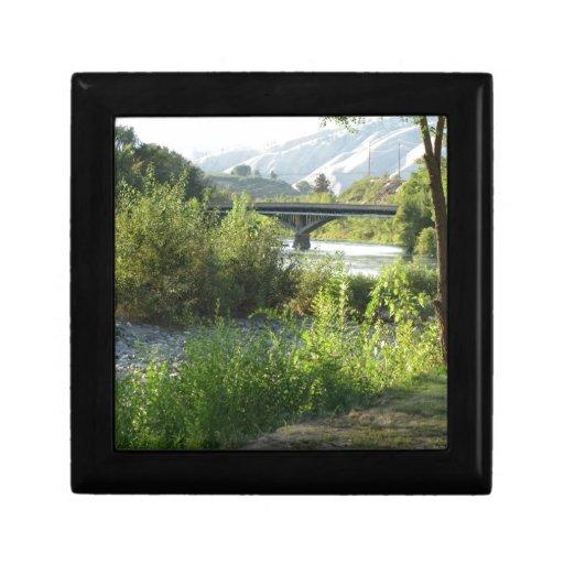 The Bridge in Summer Keepsake Boxes
