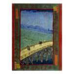 The Bridge in the Rain (after Hiroshige) Van Gogh Posters