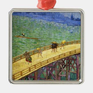 The Bridge in the Rain Vincent van Gogh fine art Metal Ornament