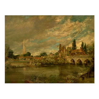 The Bridge of Harnham and Salisbury Cathedral Postcard