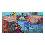 The Bridge Of L'Anglois By Vincent Van Gogh Photo Card Template