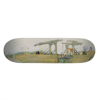The Bridge of Langlois by Vincent Van Gogh Skateboard Deck