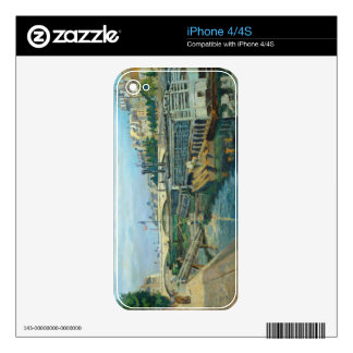 The Bridge of Louis Philippe, 1875 (oil on canvas) Decal For iPhone 4