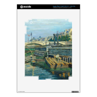 The Bridge of Louis Philippe, 1875 (oil on canvas) iPad 3 Decals