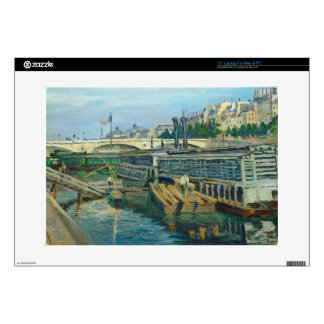 The Bridge of Louis Philippe, 1875 (oil on canvas) Laptop Decal