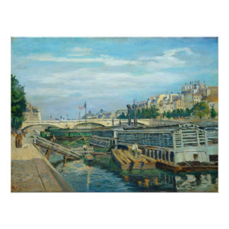The Bridge of Louis Philippe, 1875 (oil on canvas) Poster