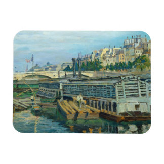 The Bridge of Louis Philippe, 1875 (oil on canvas) Rectangle Magnet