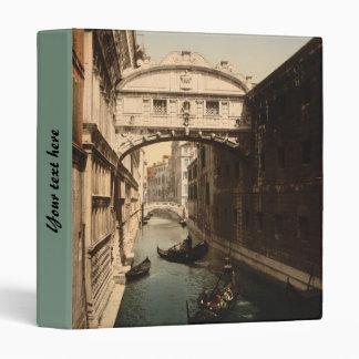 The Bridge of Sighs II, Venice, Italy 3 Ring Binder