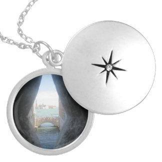The bridge of sighs silver plated necklace