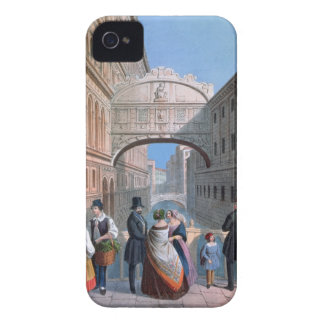 The Bridge of Sighs, Venice, engraved by Brizeghel Case-Mate iPhone 4 Case