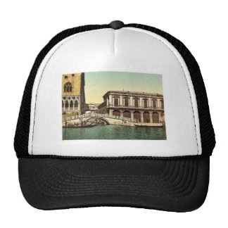 The Bridge of Sighs Venice Italy vintage Photoch Hats