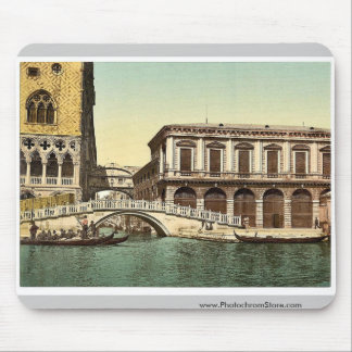 The Bridge of Sighs, Venice, Italy vintage Photoch Mouse Pad