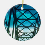 The Bridge Double-Sided Ceramic Round Christmas Ornament