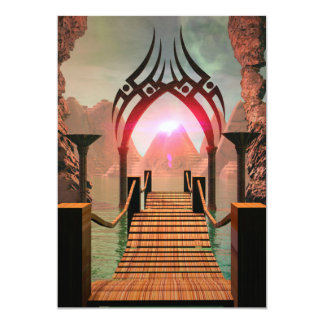The bridge to the Temple of Light 5x7 Paper Invitation Card