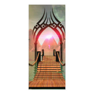 The bridge to the Temple of Light 4x9.25 Paper Invitation Card