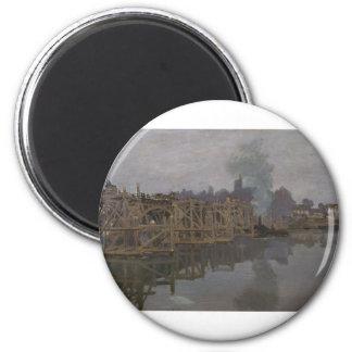 The Bridge under Repair (1871-1872) 2 Inch Round Magnet
