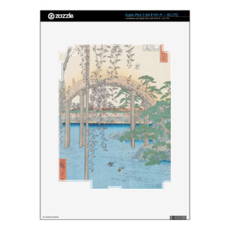 The Bridge with Wisteria or Kameido Tenjin Decal For iPad 3