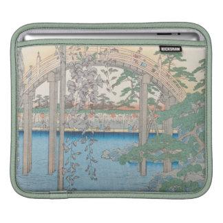 The Bridge with Wisteria or Kameido Tenjin iPad Sleeves