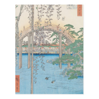 The Bridge with Wisteria or Kameido Tenjin Postcard