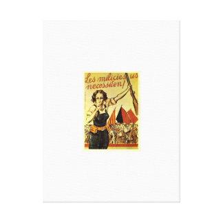 The brigades need you_Propaganda Poster Canvas Print