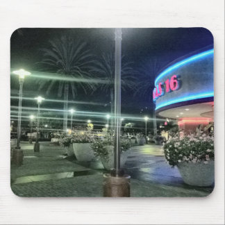 The Bright Lights of the Movie Theater at Night Mouse Pad
