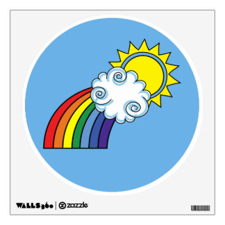 The Bright Side Wall Decal - Rainbow Wall Decal