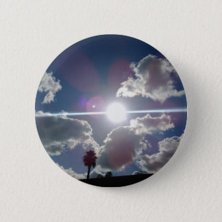 The Bright Sun Shining Through the Silver Clouds Pinback Button
