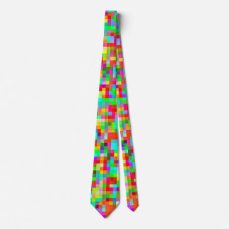 The Brightest Most Colorful Pixel Pattern Neck Tie