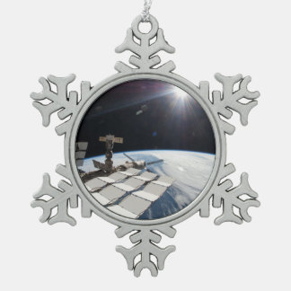 The Brightness of the Sun Snowflake Pewter Christmas Ornament