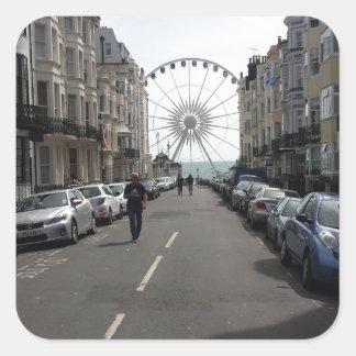 The Brighton Wheel in Brighton, UK Square Sticker