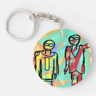 The Brilliant Brothers Double-Sided Round Acrylic Keychain