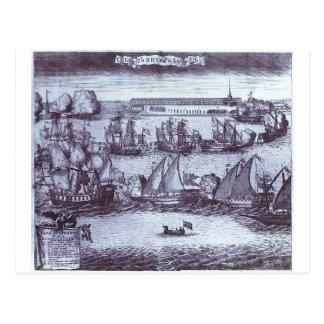 The Bringing of 4 Swedish Frigates in St. Petersbu Postcard