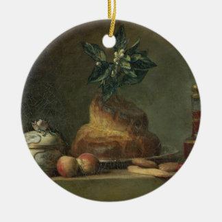 The Brioche or The Dessert, 1763 (oil on canvas) Ceramic Ornament