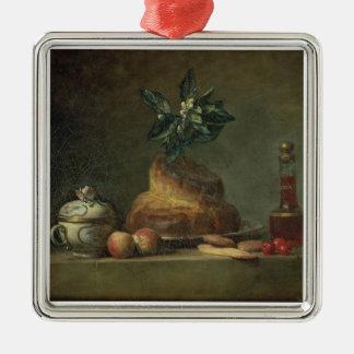 The Brioche or The Dessert, 1763 (oil on canvas) Metal Ornament