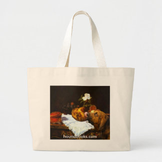 The Brioche With Wimsey the Bloodhound Large Tote Bag