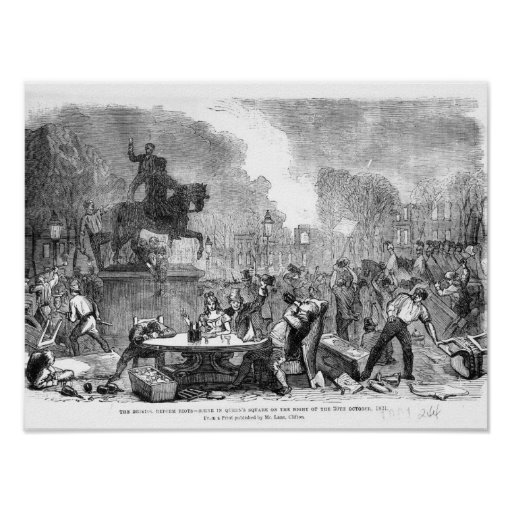 The Bristol Reform Riots Print
