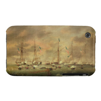 The British and American Fleets Engaged on Lake Bo Case-Mate iPhone 3 Cases