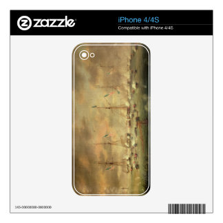 The British and American Fleets Engaged on Lake Bo iPhone 4S Skin