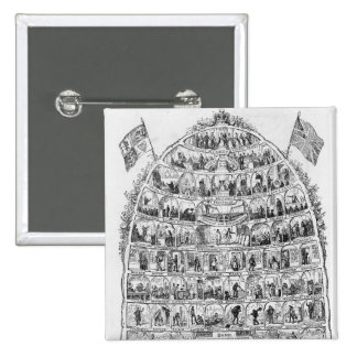 The British Beehive, 1867 Pinback Button