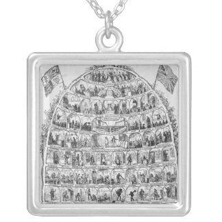 The British Beehive, 1867 Silver Plated Necklace