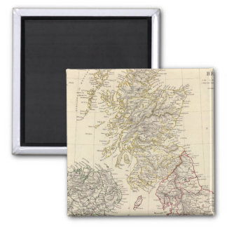 The British Isles 2 Inch Square Magnet