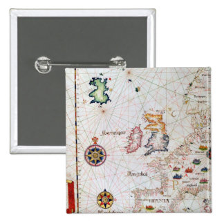 The British Isles, Iberia and Northwest Africa 2 Inch Square Button