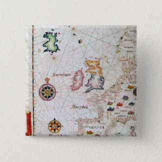 The British Isles, Iberia and Northwest Africa Pinback Button