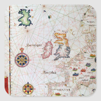 The British Isles, Iberia and Northwest Africa Square Sticker