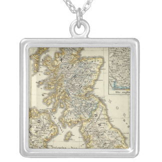 The British Isles since 1485 Silver Plated Necklace