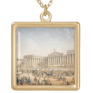 The British Museum, c.1862 (colour litho) Gold Plated Necklace
