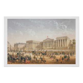 The British Museum, c.1862 (colour litho) Poster
