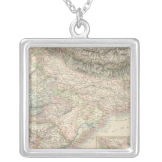 The British Possessions in the East Indies Square Pendant Necklace